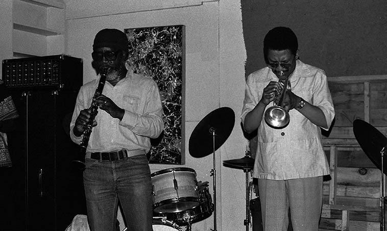 John Carter & Bobby Bradford -- April 24, 1977 -- photo by Mark Weber