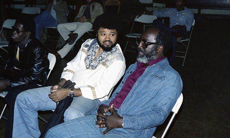 Azar Lawrence & John Carter at Ibedon Festival -- May 20-22, 1977 Los Angeles -- photo by Mark Weber
