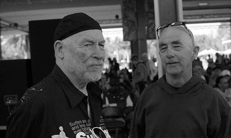 Don Preston and David Parlato -- August 9, 2o13 Los Angeles -- photo by Mark Weber