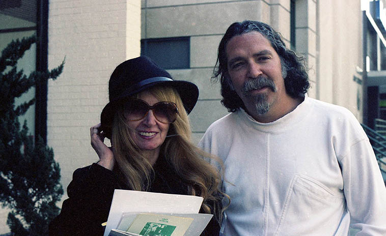 Me and the poet Lyn Lifshin -- March 18, 1995 (Lyn has my hat on) Washington DC