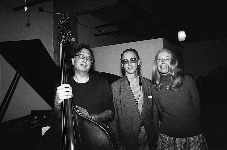 Don Messina, Jimmy Halperin, Kazzrie Jaxen at Connie's studio -- November 16, 2o14 -- photo by Mark Weber ----- He have got to listen to some Jimmy Halperin tenor saxophone today