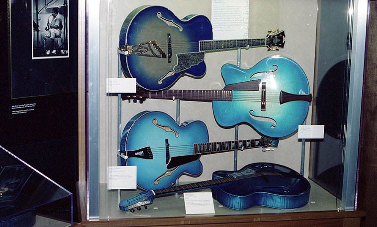 The Blue Guitars show at the Smithsonian, Washington DC -- March 12, 1998 -- photo by Mark Weber