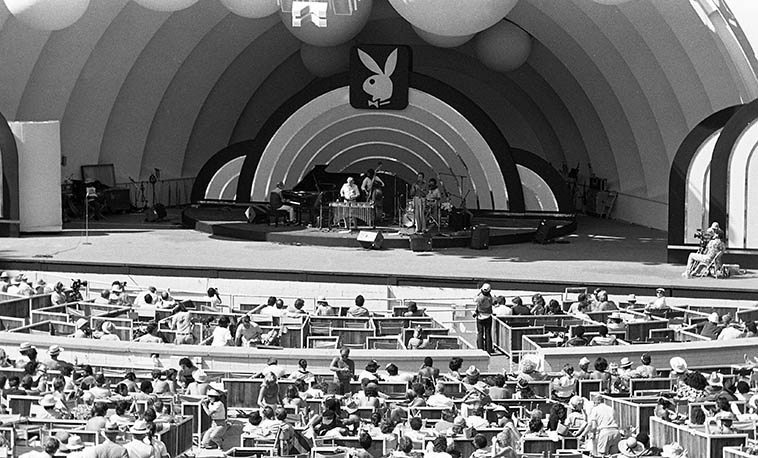 "The Terry Gibbs - Buddy DeFranco Quintet at Hollywood Bowl Playboy Jazz Festival -- June 20, 1981 -- Ross Tompkins (piano), Scott Morris (drums), Marshall Hawkins (bass) -- photo by Mark Weber ----- Terry Gibbs worked with Benny Goodman off & on for years and speaking of BG's legendary spaciness (page 118 of his memoir GOOD VIBES) Terry says: ""He could memorize anything except your name. He called everybody in the world ""Pops,"" women, children, dogs, fire hydrants, you name it. Everybody was Pops. One time we were rehearsing up at his house in Connecticut and his wife Alice came in and said, ""Benny, should I bring the guys some Cokes?"" Benny said, ""Now now, Pops."" He couldn't remember his own wife's name! He called her ""Pops."""""