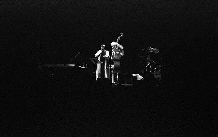 Sheila Jordan & Cameron Brown -- July 27, 2o12 at Lensic Performing Arts Center, Santa Fe, New Mexico -- photo by Mark Weber