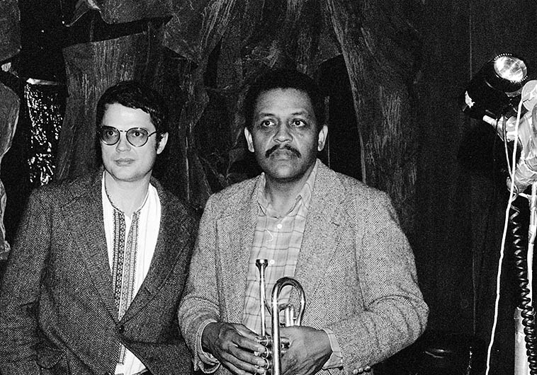 Charlie Haden and Bobby Bradford -- February 17, 1980 Los Angeles (at Century City Playhouse) -- photo by Mark Weber