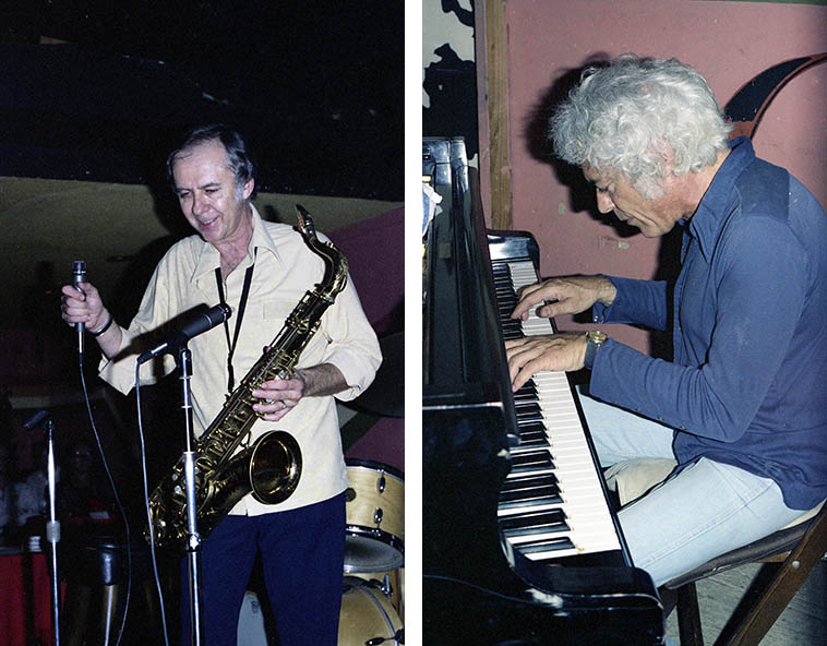 Warne Marsh and Lou Levy at Donte's -- October 7, 1976 -- photo by Mark Weber