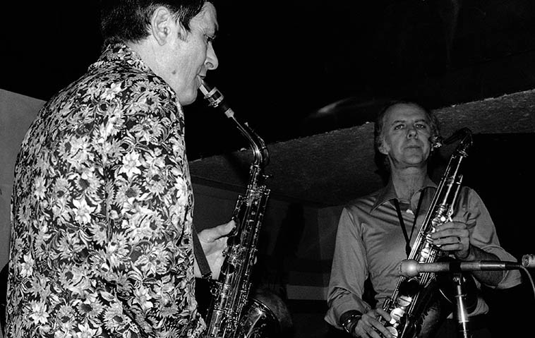 Art Pepper & Warne Marsh at Donte's -- February 6, 1977 -- photo by Mark Weber