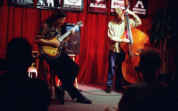 Lewis Winn(guitar) and Jon Gagan(bass) at old Outpost