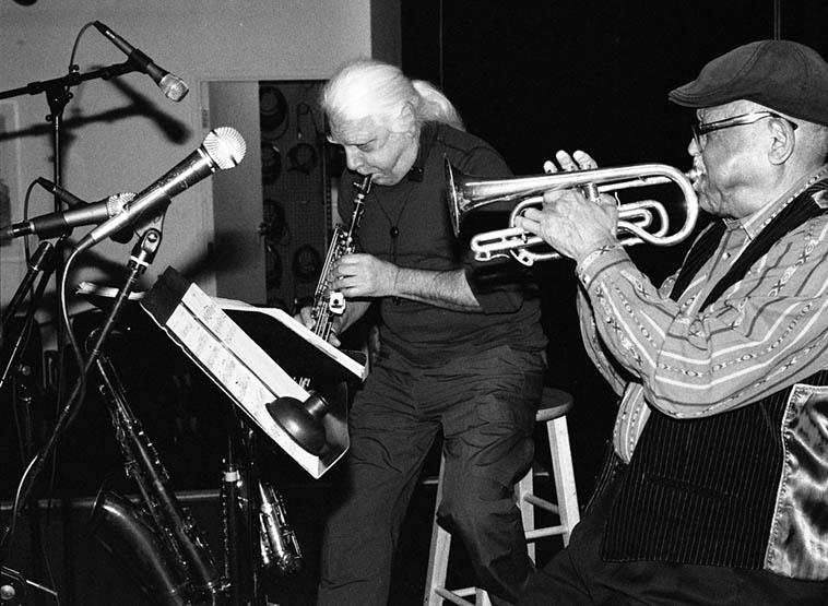 Vinny Golia & Bobby Bradford -- March 30, 2o17 Albuquerque -- photo by Mark Weber