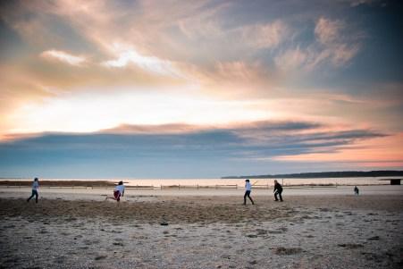 Mark Zastrow | ballgame on beach