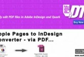 Apple Pages a InDesign Converter, Markzware PDF2DTP