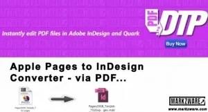 Apple Pages à InDesign Converter, Markzware PDF2DTP