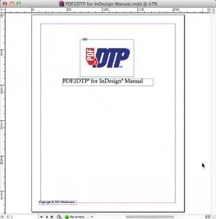 Markzware PDF2DTP for Adobe InDesign Converted PDF