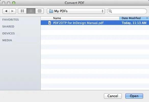 Markzware PDF2DTP para Adobe InDesign pueda buscar archivos PDF