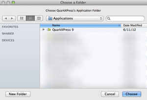 Markzware PDF2DTP for QuarkXPress Select QuarkXPress Folder