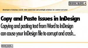 Copy and Paste Issues from Text to Word Can Cause InDesign Problems