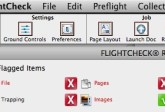 Markzware FlightCheck menu-items in Stand-Alone Preflight Application
