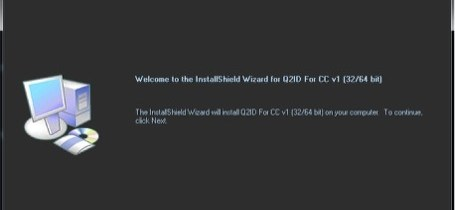 Markzware Q2ID for InDesign CC Installer Welcome Screen