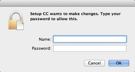 Markzware Q2ID for InDesign CC Mac Deactivation - Enter your Password