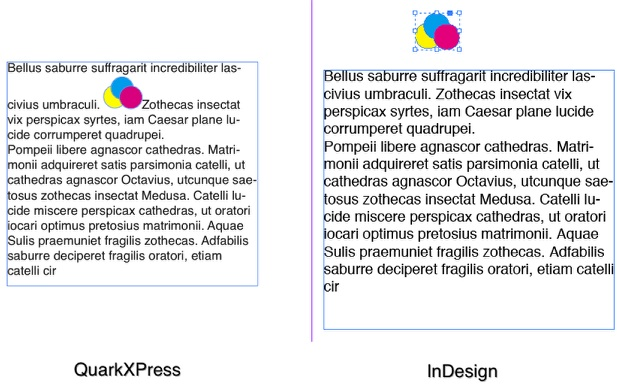 Example of File Conversion, Using Q2ID to Open QuarkXPress 2018 File in InDesign CC 2018