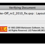 Markzware MarkzTools Verifying QuarkXPress Project