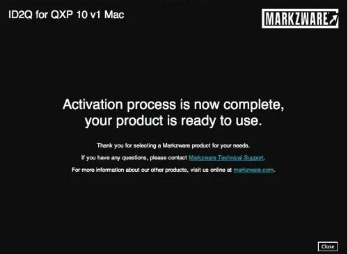Markzware ID2Q QuarkXPress 9 10 Macintosh Activation