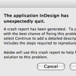 L'application InDesign a fermer de façon inattendue. Markzware File Recovery peut aider.
