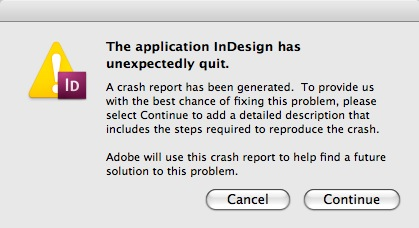 InDesign quit. Markzware DTP File Recovery can recover InDesign CC INDD Creative Cloud Data