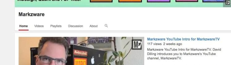 Zware des MarkzwareTV YouTube Einführung
