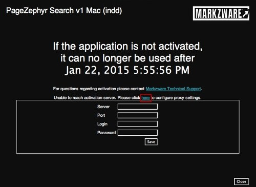 Markzware PageZephyr Search Mac Proxy Settings