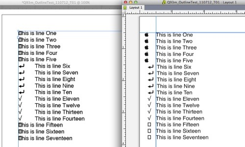 Markzware Q2ID for InDesign CC Bullets Outside Text Container