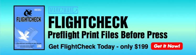 Markzware FlightCheck Banner