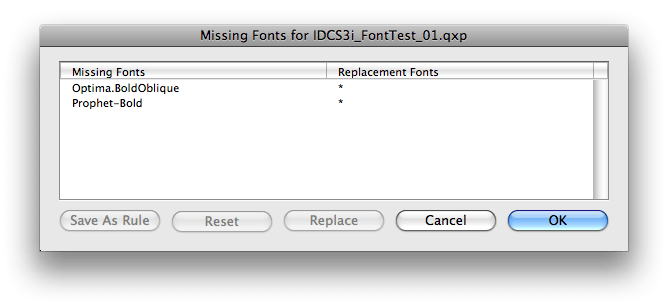 Markzware ID2Q Missing Fonts