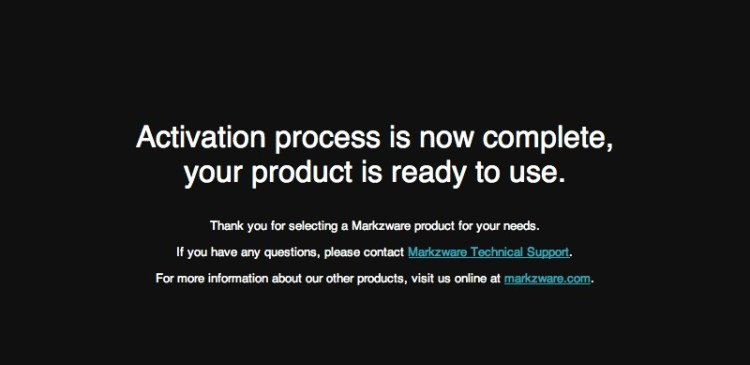 Markzware PageZephyr v3 Successful Activation