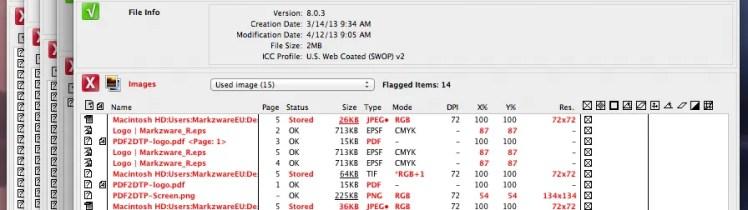 Contrôle en amont de plusieurs fichiers InDesign avec Markzware FlightCheck