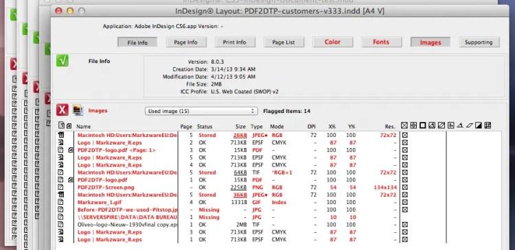 Preflighting Multiple InDesign Files with Markzware FlightCheck