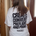 Create Convert Preflight and Print with Markzware FlightCheck software: T-Shirt Sighting