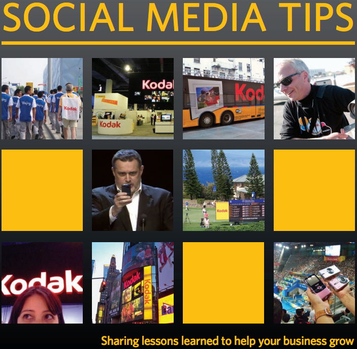 Kodak Social Media Tips guide