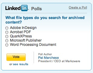 Poll on Search Archive Format