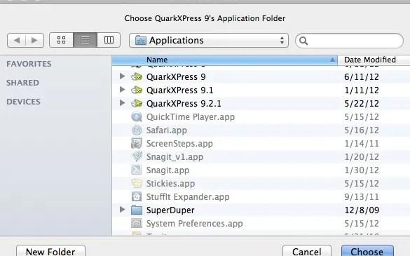 Markzware ID2Q for QuarkXPress 9 Mac Select Version of QuarkXPress where ID2Q is located