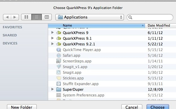 Markzware ID2Q for QuarkXPress 9 Mac Select Version of QuarkXPress where ID2Q is located