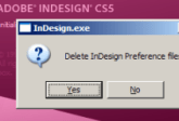 InDesign Auto-recuperación Error