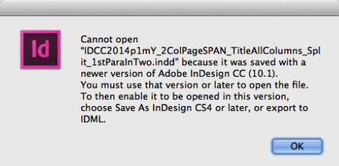 "Adobe InDesign Error ""Cannot open"""