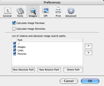 Image Preferences in Markzware FlightCheck Print Quality Control App to Preflight Page Layout Files