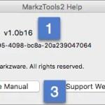 Markzware MarkzTools2 Help Menu