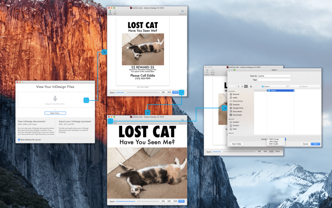 Batch Preview InDesign, IDML, InCopy Files, Stories, Images & Fonts in High Resolution via Markzware ID Util for macOS