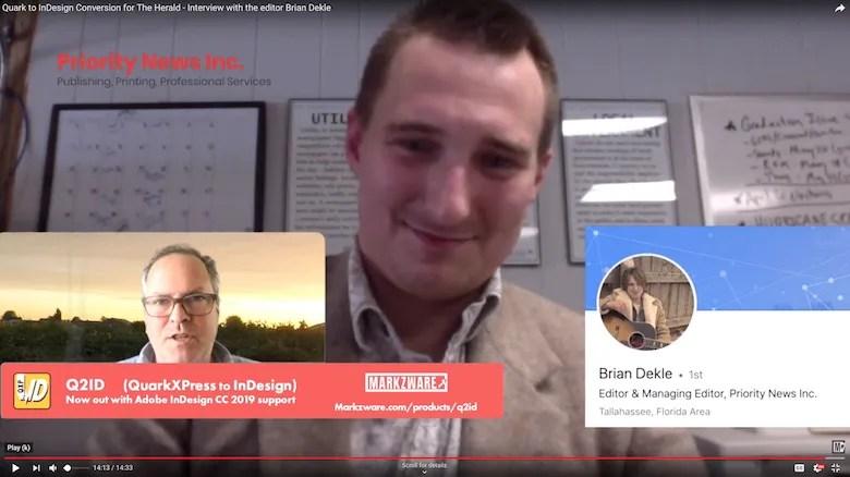 Entretien avec Q2ID Testimonial avec Brian Dekle, rédacteur en chef, The Herald, Priority News, Inc.