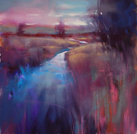 Purple River pastel