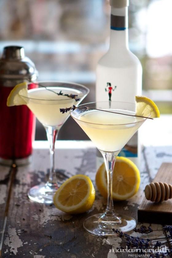 Honey Bee Martini | Lavender Honey, Lemon & Vodka Cocktail | Recipe on MarlaMeridith.com