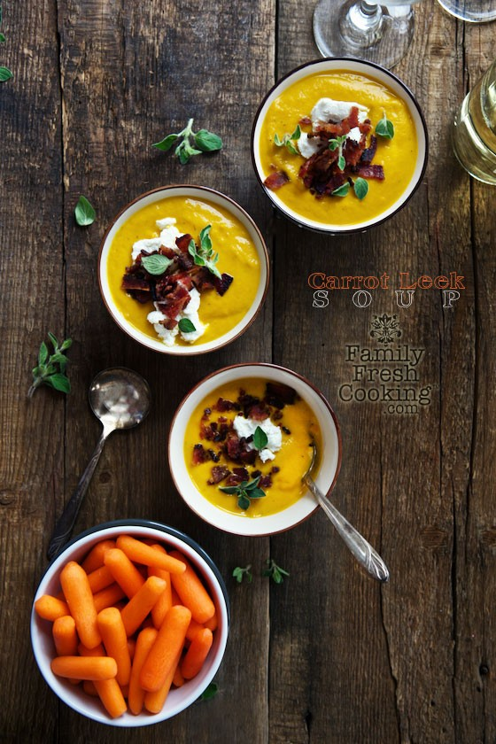 Roasted Carrot Leek Soup | Healthy & Delicious Soup | MarlaMeridith.com